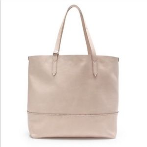 Jcrew leather Downing tote in blush